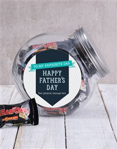 gifts: Personalised Favourite Dad Candy Jar!