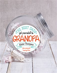 gifts: Personalised Best Grandpa Candy Jar!