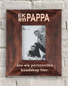 gifts: Personalised Ek En Pappa Frame!