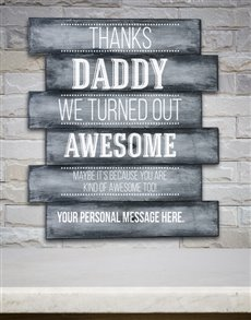 gifts: Personalised Thanks Daddy Panel Artwork!