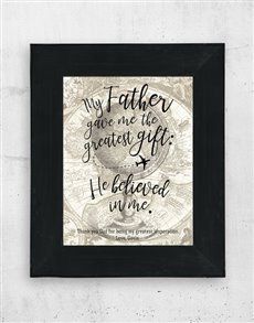 gifts: Personalised Fathers Gift Artwork in Black Frame!