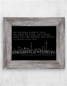gifts: Personalised Father Lived Artwork in Frame!