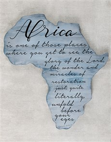 gifts: Personalised Africa Board With Poem!