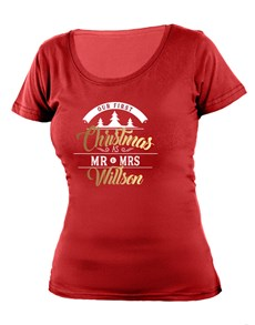 gifts: Personalised First Christmas Ladies T Shirt!