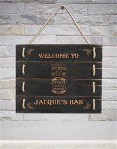 gifts: Personalised Bar Hanging Panel Art!