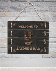 gifts: Personalised Bar Hanging Panel Art!
