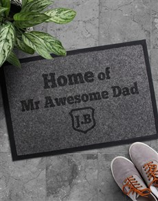 gifts: Personalised Awesome Dad Doormat!