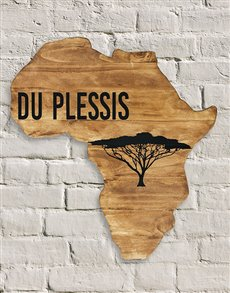 gifts: Personalised African Board!