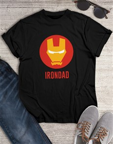gifts: Personalised Ironman Dad T Shirt!
