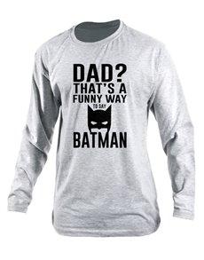 gifts: Personalised Dad Batman Longsleeve T Shirt!