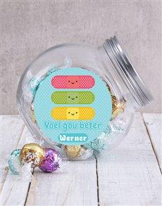 gifts: Personalised Voel Gou Beter Candy Jar!