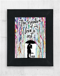 gifts: Personalised Our Love Wall Art!