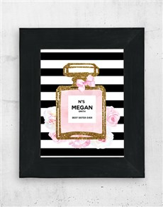 gifts: Personalised Perfume Wall Art!