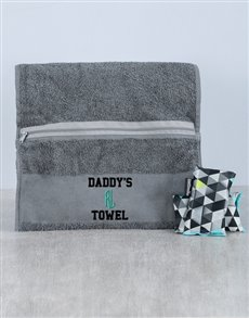 gifts: Personalised Daddys Towel and Goodsmellas!
