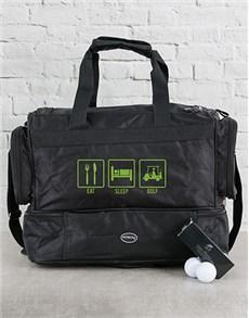 gifts: Personalised Eat Sleep Golf Hamper!