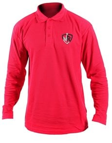gifts: Personalised Mens Red Golf Shirt!