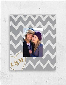 gifts: Personalised Heart Initials Photo Frame!