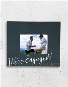 gifts: Personalised Engaged Photo Frame!