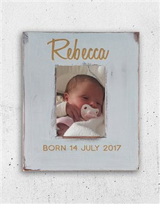 gifts: Personalised Born Photo Frame!