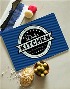 gifts: Personalised Blue Glass Chopping Board!