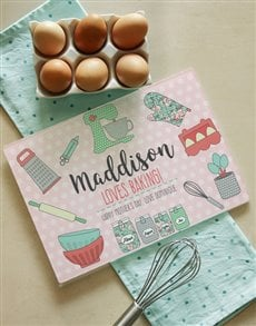 gifts: Personalised Loves Baking Glass Chopping Board!