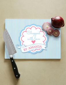 gifts: Personalised With Love Glass Chopping Board!