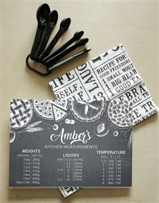 gifts: Personalised Measurements Glass Chopping Board!