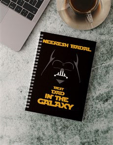 gifts: Personalised Best Dad Galaxy Notebook!