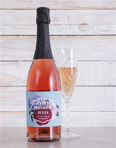 gifts: Personalised Floral Sparkling Rose!