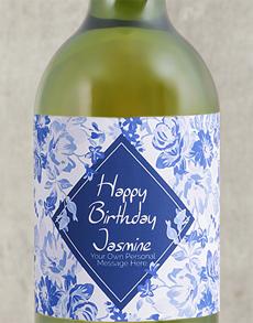 gifts: Personalised Vintage Blue Wine!