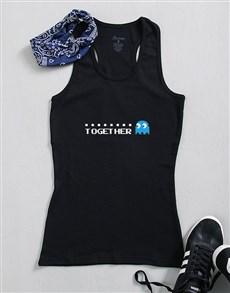 gifts: Personalised Pacman Together Ladies Top!