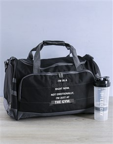 gifts: Personalised The Gym Is A Good Place Gym Bag Kit!