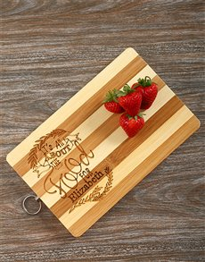 gifts: All About The Food Personalised Board!