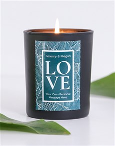 gifts: Personalised Black LOVE Candle!