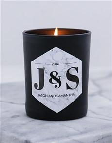 gifts: Personalised Black Gold Anniversary Candle!