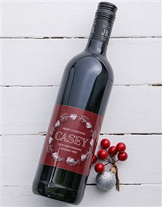 gifts: Personalised Snow Wreath Wine!