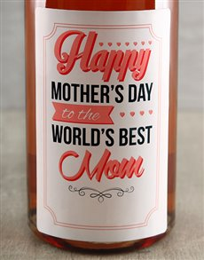 gifts: Personalised Best Mom Sparkling Wine!