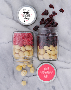 gifts: Personalised Nuts About You Fruit And Nut Jar Set!