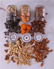 gifts: Personalised Christmas Heart Fruit n Nut Jar Trio!
