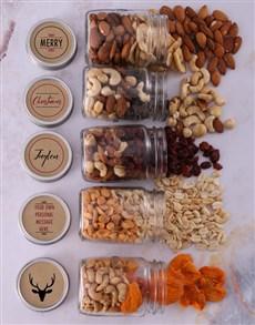 gifts: Personalised Xmas Deer Fruit n Nut Jar Hamper!