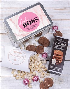 gifts: Personalised Lady Boss Snack Tin!