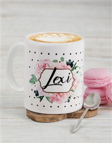 gifts: Personalised Floral Mug!