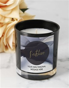 gifts: Personalised Black Petal Candle!