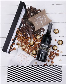 gifts: Personalised Christmas Stripe Hamper!