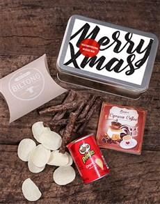 gifts: Personalised Merry Xmas Snack Tin!