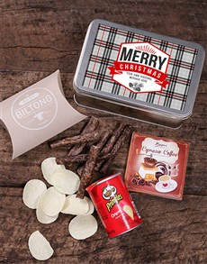gifts: Personalised Christmas Tartan Snack Tin!