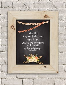 gifts: Personalised Good Teacher Black Frame!