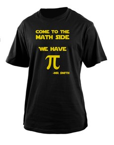 gifts: Personalised Math Side T Shirt!