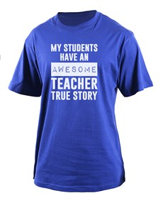 gifts: Personalised Awesome Teacher T Shirt!