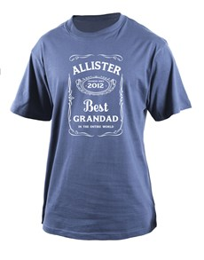 gifts: Personalised Best Grandad T Shirt!